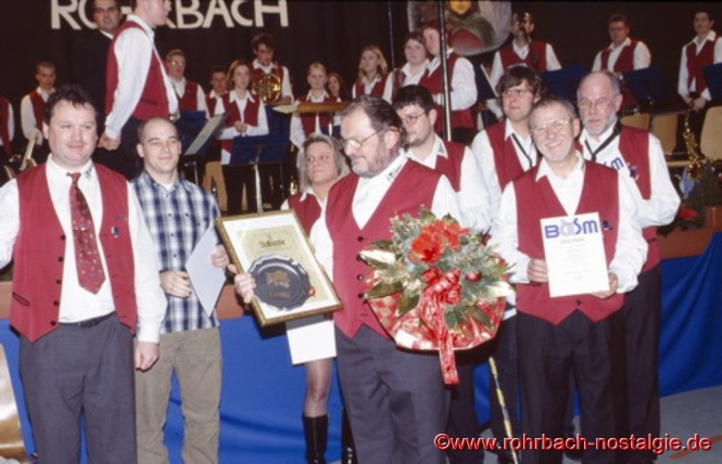 2002 Ehrungen beim Musikverein
