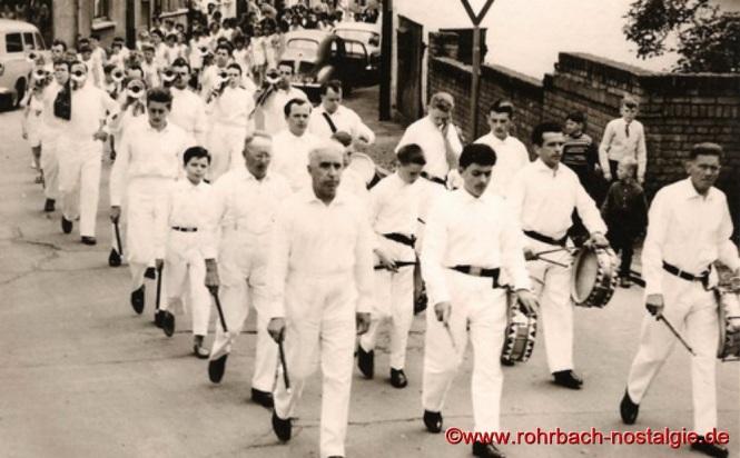 Um 1959 - Der Spielmannszug der TG Rohrbach