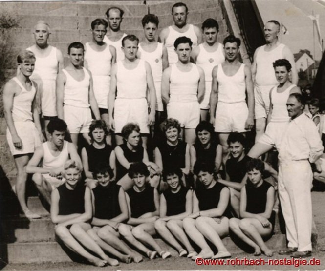1959 - Die Männer- und Frauenriege der TG Rohrbach