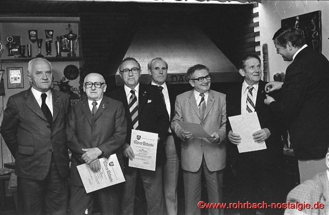 1981 Ehrungen von langjährigen Mitgliedern