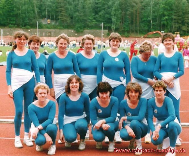 1986 - Die rührige Hausfrauenabteilung der TG Rohrbach beim Landesturnfest in Homburg