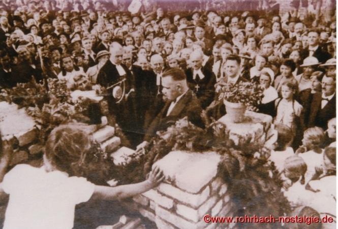1936 Grundsteinlegung zur Saardankkirche