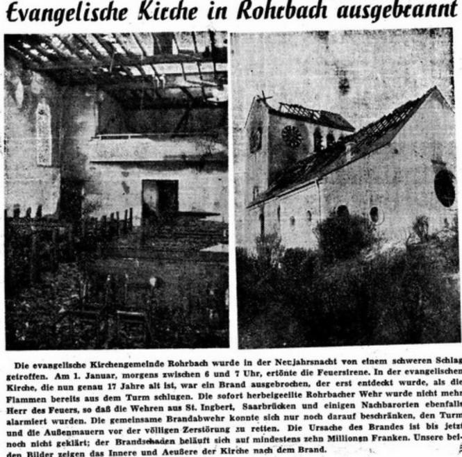So berichtet die Saarbrücker Zeitung über den Brand