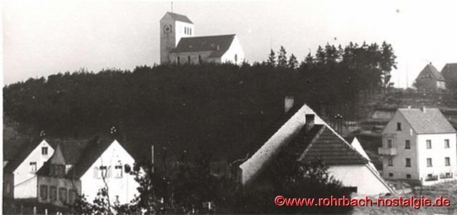 Um 1939 Die Saardankkirche auf dem Franzosenkopf