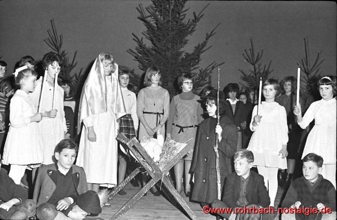 1964 Aufführung eines Theaterspiels anlässlich einer Weihnachtsfeier