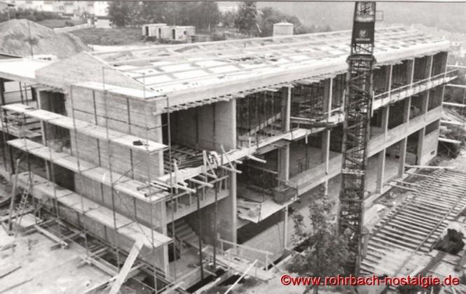 1967 - Der Erweiterungsbau der Johannesschule im Rohbau