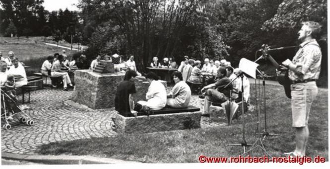 1992 - Günter Weiland beim Maitreff der Heimatfreunde am Brünnchen