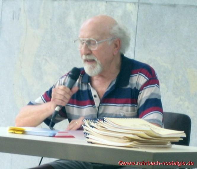 Der bekannte St.Ingberter Mundartdichter Manfred Kelleter ist oft Gast bei den Heimatfreunde