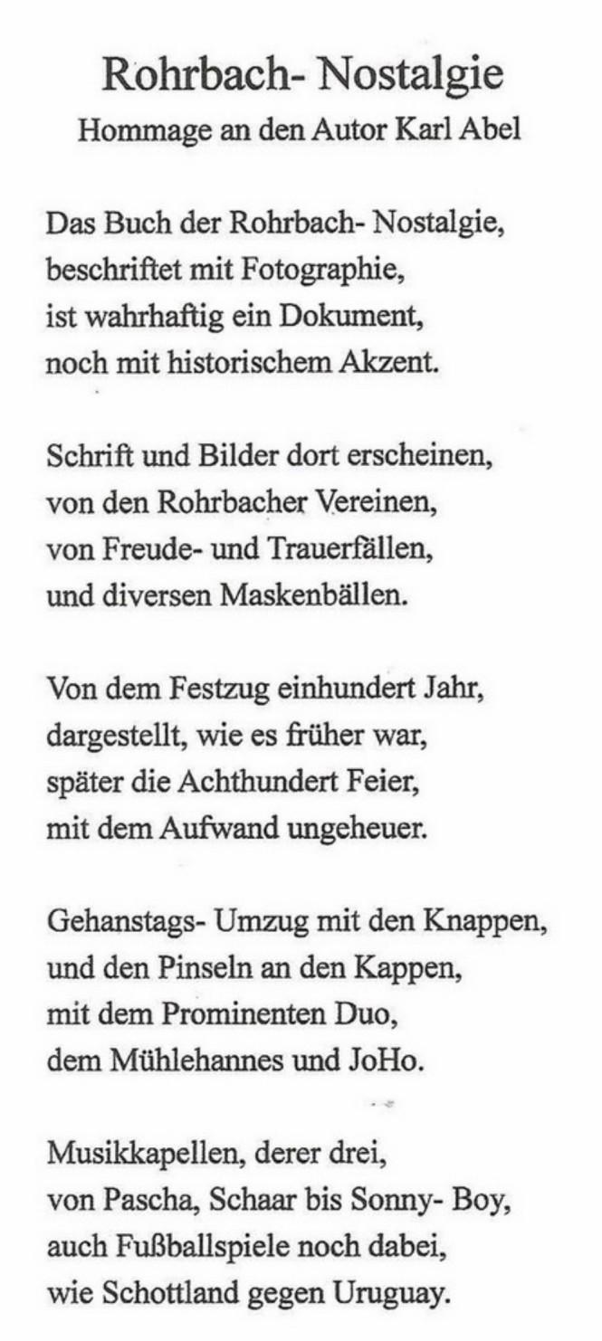 Gedicht Rohrbach Nostalgie-1aa