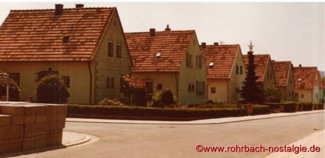 Alte Siedlungshäuser im Jahr 1976-Erster Bauabschnitt