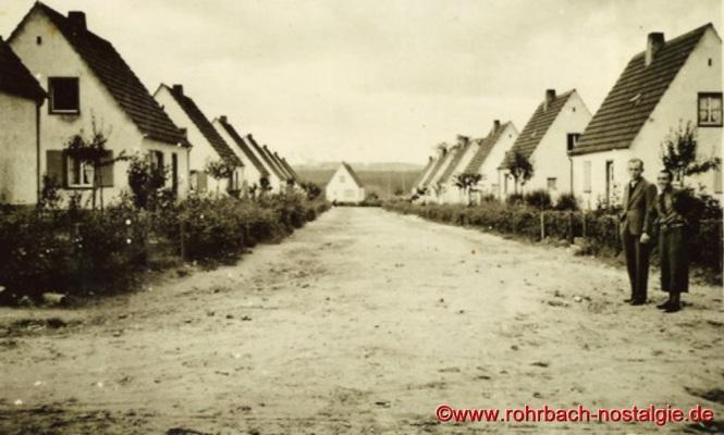 Um 1938 - Blick in den heutigen Ulmenweg