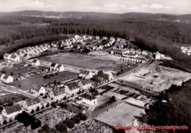 Eine Luftaufnahme der Siedlung um das Jahr 1960