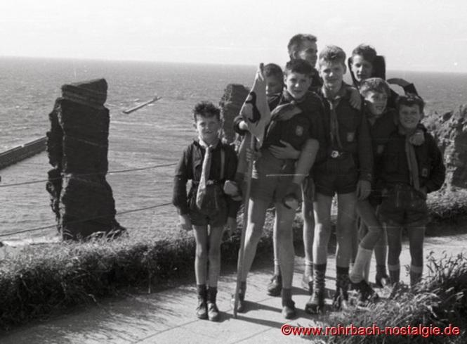1962 - Rohrbacher Pfadfinder auf der Insel Helgoland