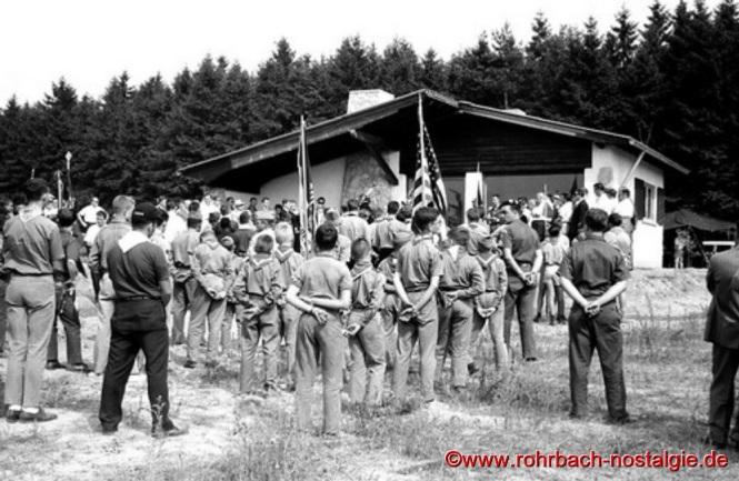 1964 - Amerikanische Pfadfinder (BoyScouts) aus Metz bei der Heimeinweihung