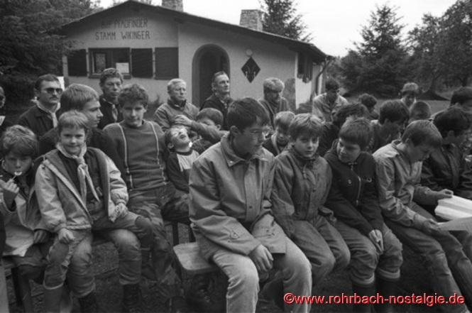 1987 - Pfadfinder beim Pfingstlagers