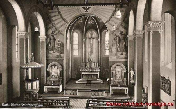 1942 - Innenansicht der Pfarrkirche St. Johannes