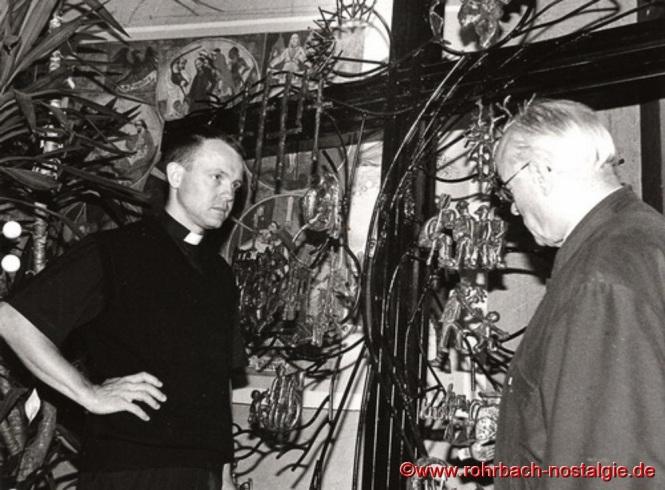 1999 – Marcin Brylka, neuer Kaplan in Rohrbach. Hier mit Pfarrer Georg Dahl, dessen Nachfolger als Pfarrer er 2001 wird