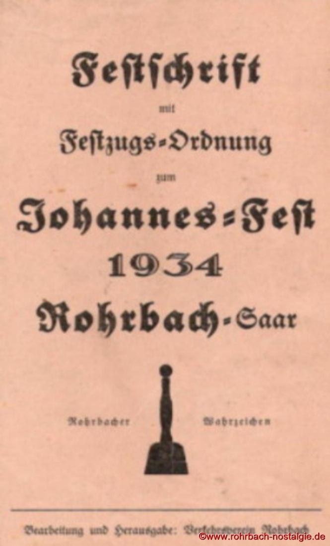 1934 Festschrift zum Johannesfest