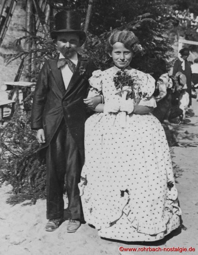 1934 - Das Brautpaar Oskar Holweck (später weltbekannter Kunstprofessor) und Agnes Fickinger geb. Abel