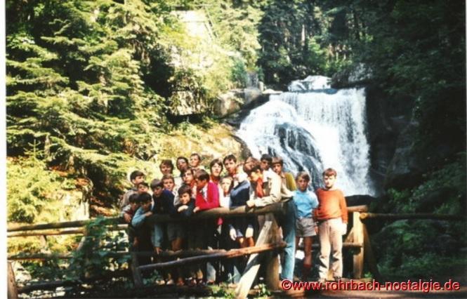 1970 Die St. Georgspfadfinder an den Triberger Wasserfällen im Schwarzwald