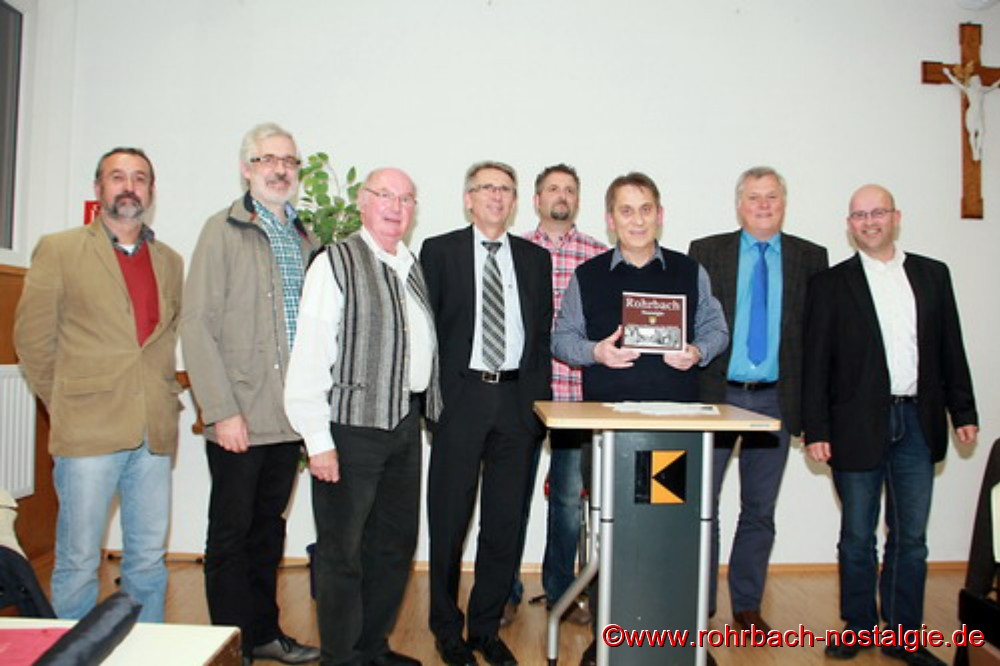 Von links: Dr. Bernhard Becker, Dieter Wirth, Kurt Wachall, Hubert Wagner, Markus Schmitt, Karl Abel, Hans Wagner und Martin Wirtz.