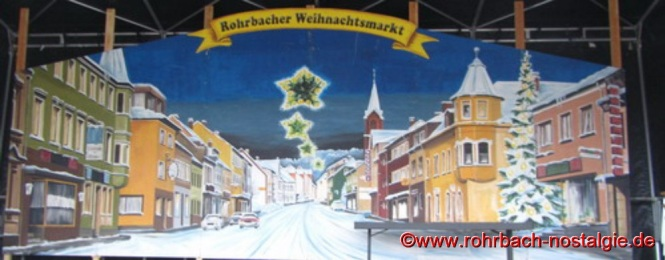 Bühnenbild des Rohrbacher Weihnachtsmarktes von Fritz Abel