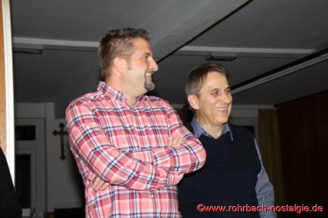 Markus Schmitt (Layouter des Buches ) und der Autor Karl Abel
