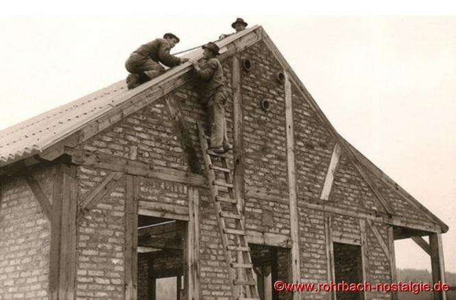 So sieht der Rohbau der Edelweißhütte im Sommer 1961 aus