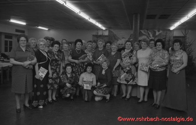 Winterfest 1966 in der Kantine der Firma Heckel