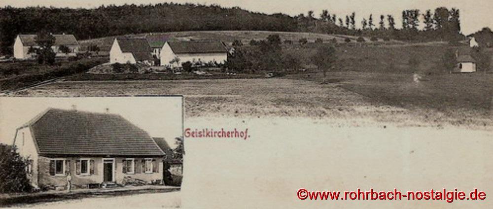 Postkarte aus dem Jahr 1901 von dem Geistkircherhof