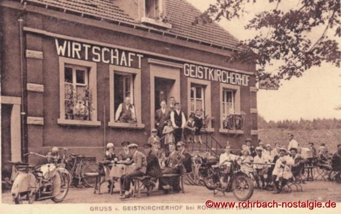 Das Gasthaus Wirtz vor dem Umbau um das Jahr 1933