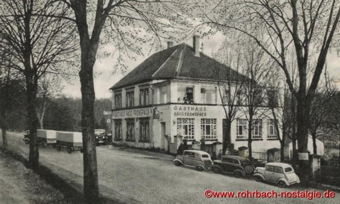 Um 1937 das Gasthaus Fronspach