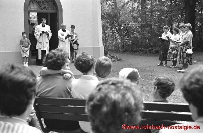 1986 Maiandacht an der Geistkircher Kapelle