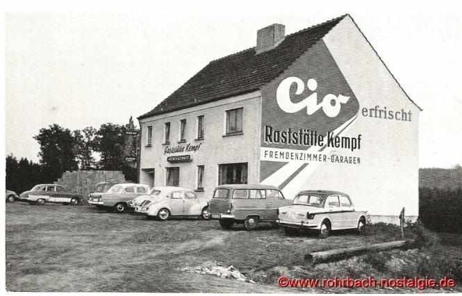 Das Gasthaus Kempf in den 50er Jahren (früherer Standort des Gasthauses Fronspach)