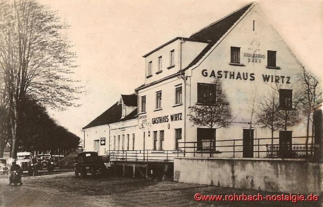 Das Gasthaus Wirtz nach dem Umbau 1935