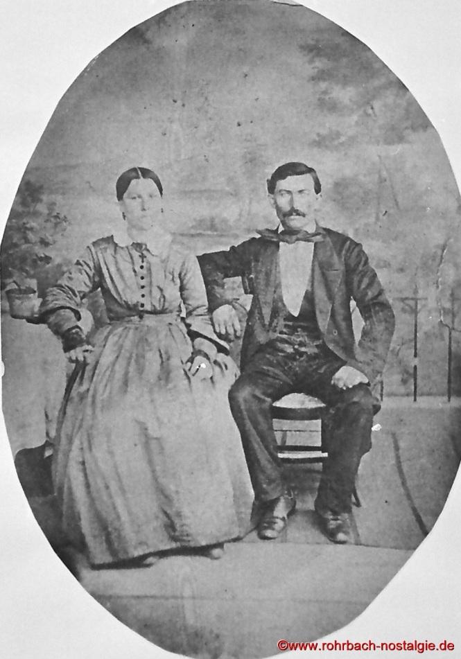 Peter Wirtz und seine Frau - Erbauer der ersten Geistkircher Kapelle
