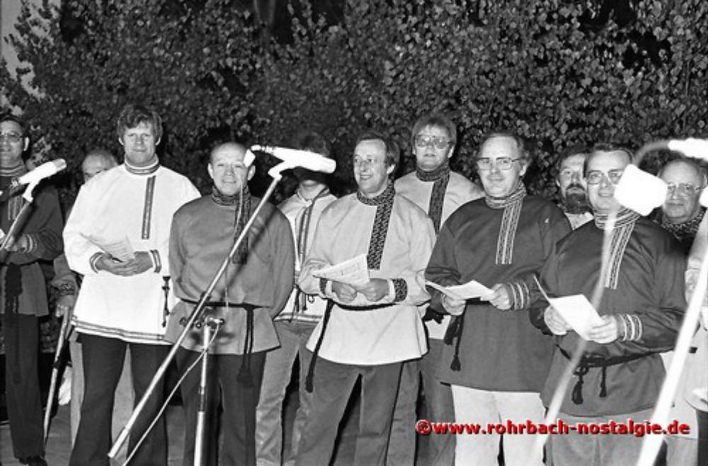 """1980 Die """"Don Kosaken"""" des Kirchenchores St. Johannes tragen russische Weisen vor"""