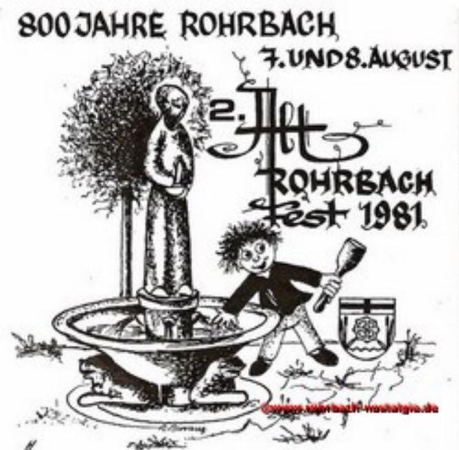 1981 Das Plakat für das 2. Alt-Rohrbach-Fest