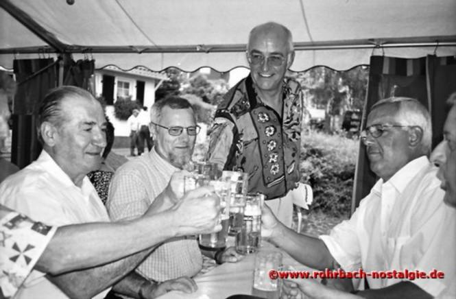 1998 Prost (von links: Ottmar Schmitt, Gisbert Groh, Albrecht Feibel und Bodo Schiehl)