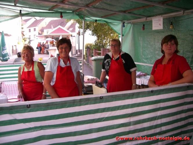 2007 Fröhliche Tischtennisdamen - Rosi Böhmer, Gisela Rohe, Liane Weiland und Silke Müller