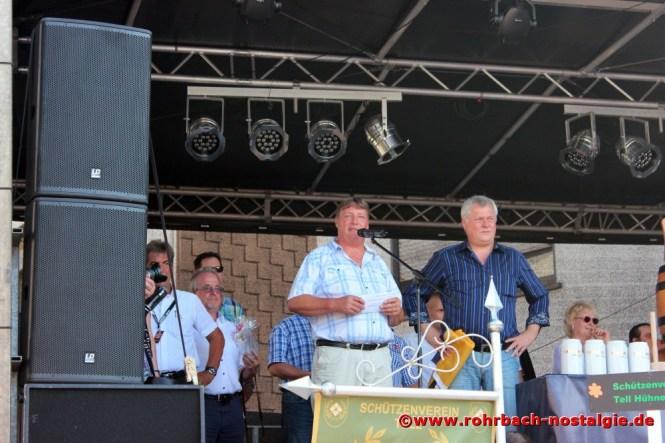 2014 Der neugewählte Rohrbacher Ortvorsteher Roland Weber und der St. Ingberter Oberbürgermeister Hans Wagner bei der Festeröffnung