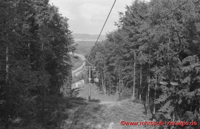 Blick von der Bergstation auf die Trasse