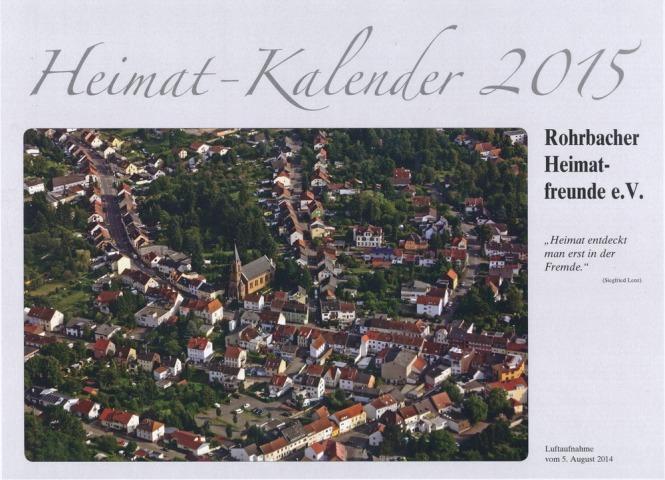 Titelbild des neuen Heimatkalenders von Manfred Agatter und Martin Staut