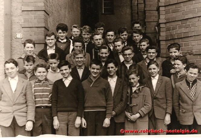 1961 Die Buben des Jahrganges 1946 im 9. Schuljahr in Niederwürzbach