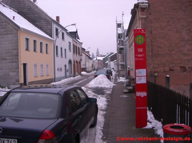 Die Schlawerie im Winter 2010 Richtung Dorfmitte
