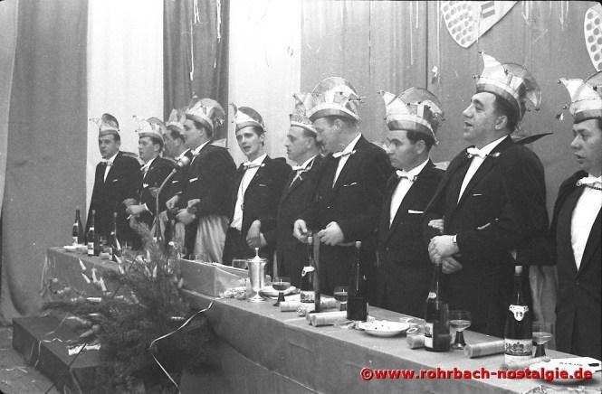 1966 Der schunkelnde Elferrat der CDU Rohrbach