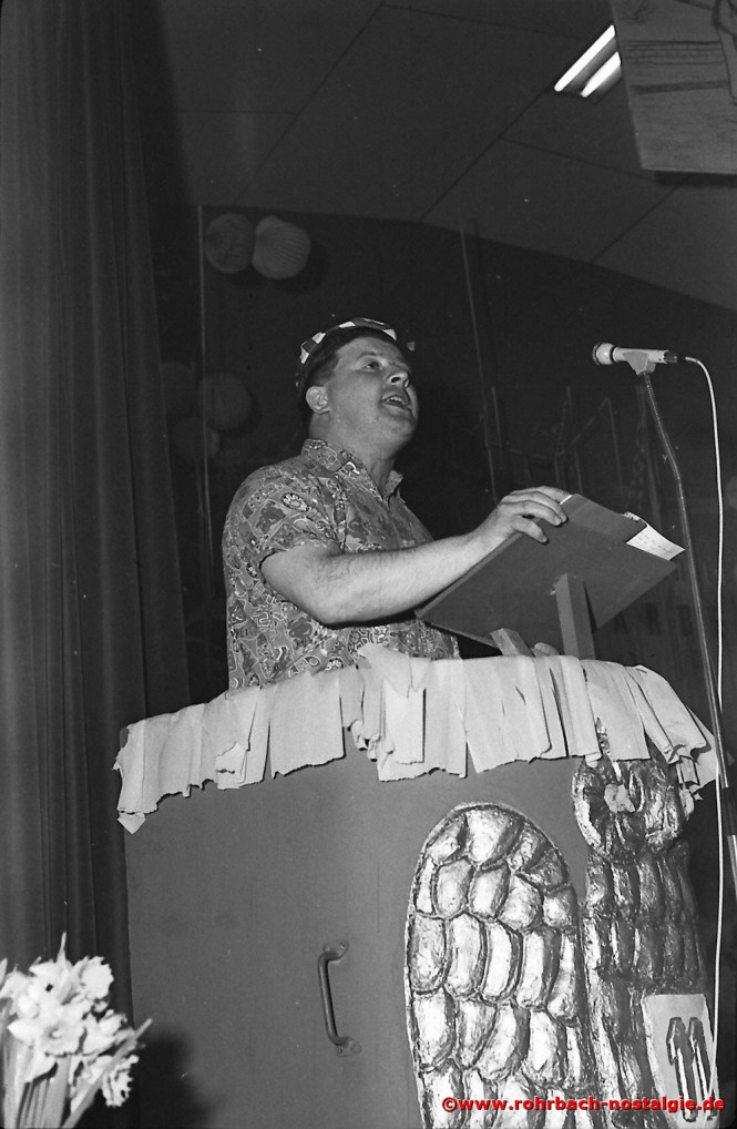 1968 Der bekannte St. Ingberter Büttenredner Karl Jung