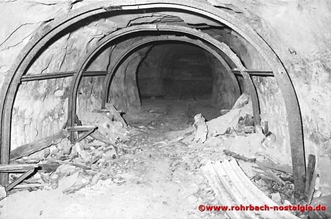 So sieht der Bunker bei der Firma Heckel im Jahr 2001 aus