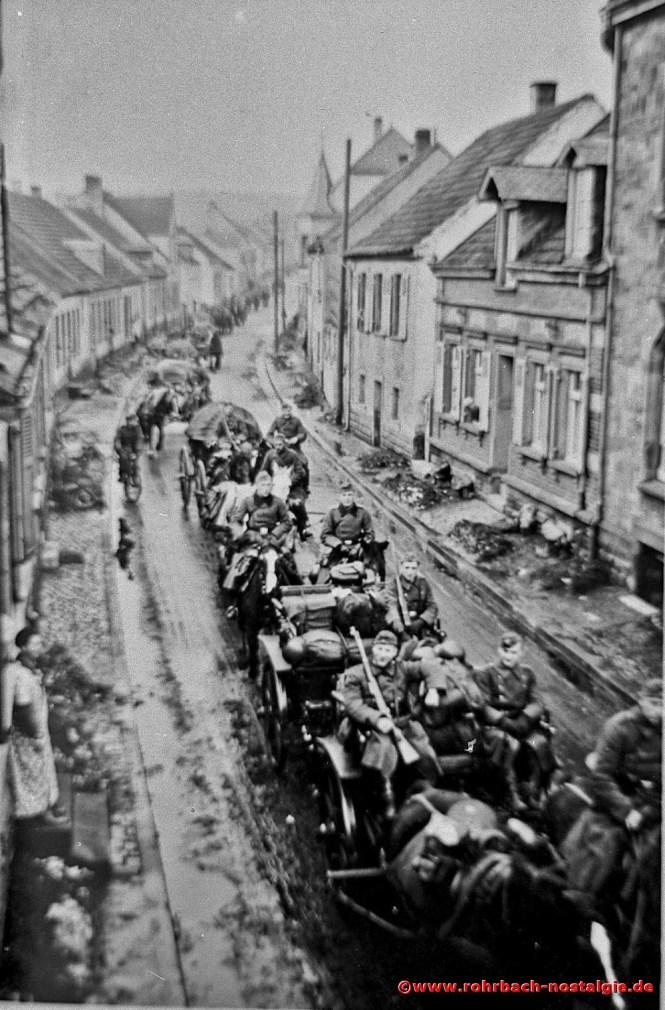 1940 Rückkehr vom erfolgreichen Frankreichfeldzug in der Spieserstraße (Schlawerie)