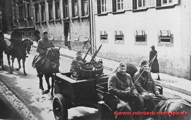 1940 Rückkehrer vom Frankreichfeldzug in der Bahnhofsstraße